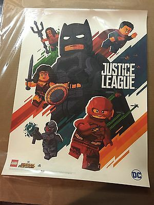 Sdcc 2017 Exclusive Promo Print Tom Whalen Justice League Signing At Lego Booth