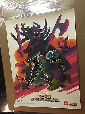Sdcc 2017 Exclusive Promo Print Tom Whalen Thor Ragnarok Signing At Lego Booth
