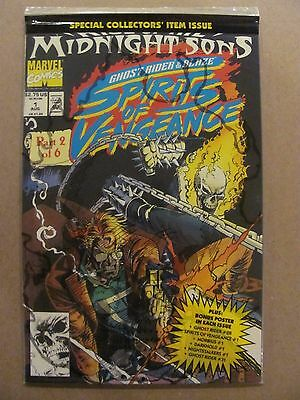 Spirits of Vengeance #1 Marvel 1992 Series Polybagged with Poster 9.6 Near Mint+