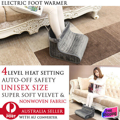 4 Level Adjustable Temp Electric Foot Warmer Comfortable Velvet Soft Feet Heater