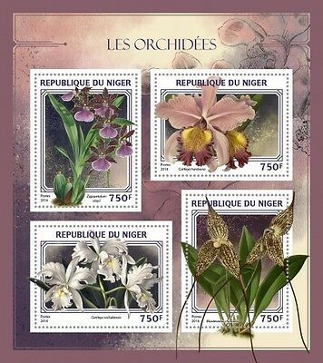 Z08 IMPERFORATED NIG16417a NIGER 2016 Orchids MNH