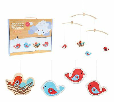 NEW Wooden Balance Mobile by TIGER TRIBE ~ BIRD ~ Baby Childrens Kid Nursery