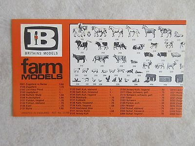 Katalog Britain Modles, 1969, Original, farm modlels und zoo models