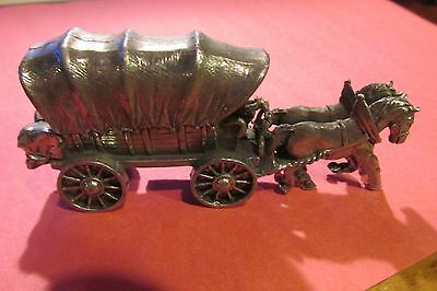 Pewter Covered Wagon Figurine