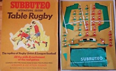 Subbuteo Rugby Iternational Edition WALES v IRELAND - complete GREAT CONDITION