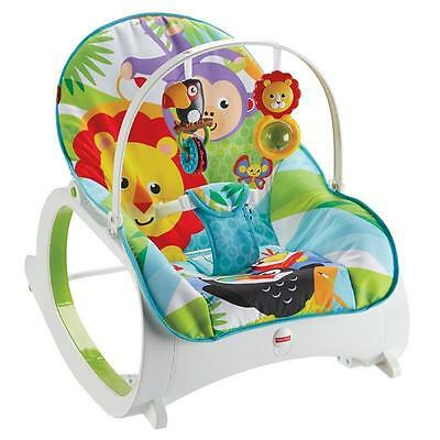 Fisher-Price Infant to Toddler Baby Rocker Chair Blue