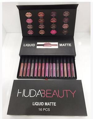 NEW 16x Lipstick Huda Beauty Liquid Matte Set Lipstick 16 Shades