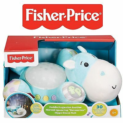 Fisher-Price Hippo Plush Projection Musical Soother Nightlight Baby Nursery 0m+