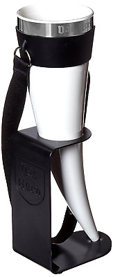 Drinking Horn Vessel Food-safe BPA-free Plastic with a Stainless Steel Rim 24oz