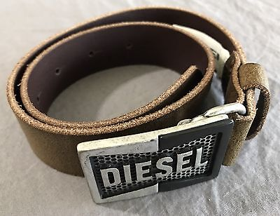 Diesel Leather Belt Metal Buckle Kids Size l
