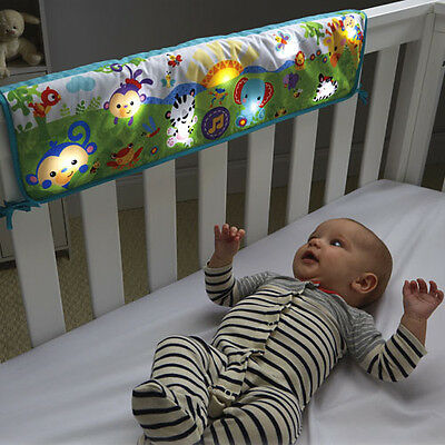 Fisher Price Rainforest Twinkle Lights Crib Rail Soother 65cm