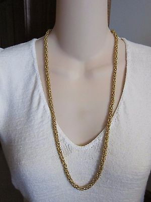 "22K gold bullion byzantine necklace chain HUGE SOLID 75 grams! 28"" estate vtg"