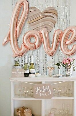 Folienballon LOVE Hochzeit Party Dekoration Ballon Deko Schrift Kupfer Rose