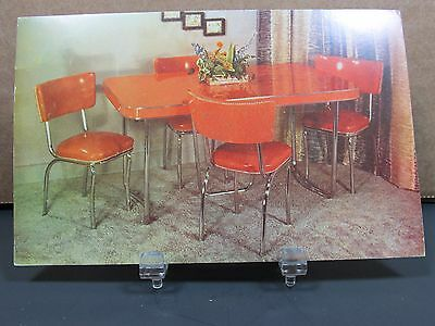 Formica Table Chairs 1950 Dinning Room Set Vintage Advertising Postcard