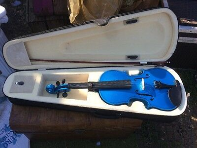 "Blue VIOLIN 24"" With Case"