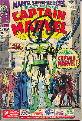 Marvel Super-Heroes 12 - 1967 - 1st Captain Marvel - Fine