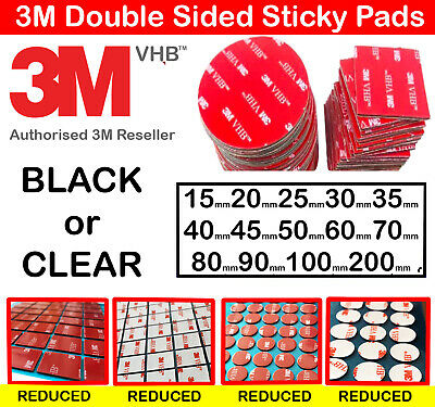 3M Strong Double Sided Tape Sticky Pads Mounting Heavy Duty Exterior Sticky Pads