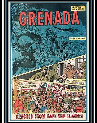 Grenada #1 *CIA Produced PRoPaGaNDa Comic Book Airdropped 1983 Invasion (NM 9.4)