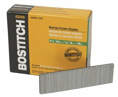 BOSTITCH SX50351-3/8G 1-3/8-Inch by 18 Gauge by 7/32-Inch Crown Finish Staple