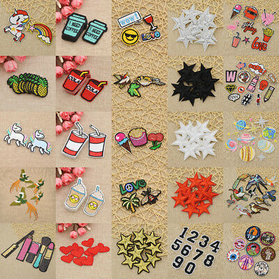 1 Set Patches Various Embroidery Applique Sewing Iron on Craft DIY Clothing Bag