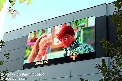 Full Colour LED Video Wall Display - Pixel Pitch 8mm - Outdoor - price per 1m²