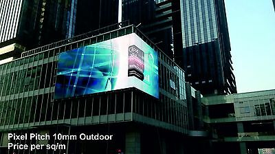 Full Colour LED Video Wall Display - Pixel Pitch 10mm - Outdoor - price per 1m²