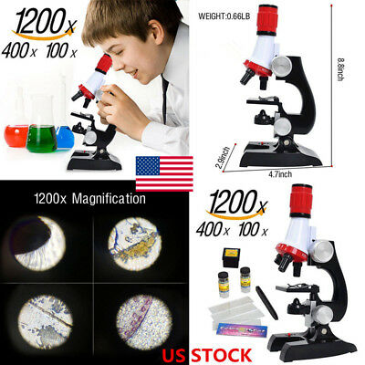 100-1200X EducationMicroscope Kit Eyepiece For Student Kid Toy Chemistry Biology