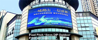 Full Colour LED Video Display - Pixel Pitch 10mm DIP - Outdoor - price per 1m²