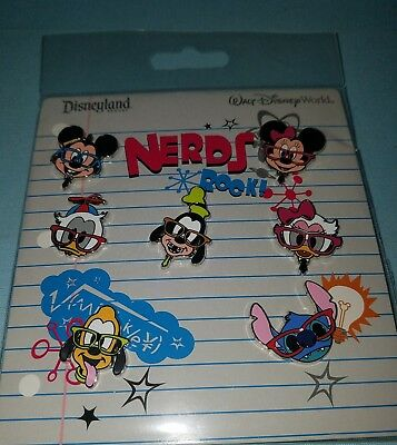 Disney Parks Booster Pins NERDS ROCK - FACES Mickey Minnie Donald Stich More