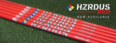 "NEW ""Ready to Play"" PROJECT X HZRDUS RED Hand Crafted shaft w/ grip & adaptor"