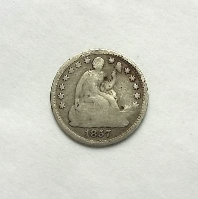 1857 US Coin Half Dime - Seated Liberty - Nickel (Silver)