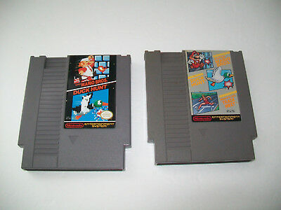 NES Nintendo Super Mario Bros. / Duck Hunt / World Class Track Meet Game Lot
