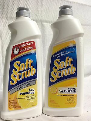 Lot Of 2 Soft Scrub Cleaner All Purpose Kitchen And Bathroom Cleaner 1.8 Lb Each