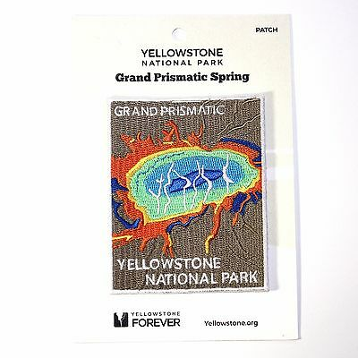 Official Yellowstone National Park Souvenir Patch Grand Prismatic Spring Wyoming