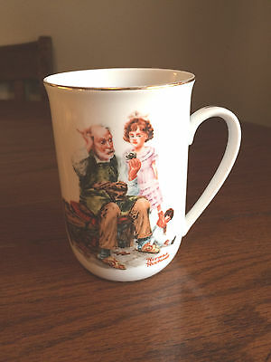 1982 Norman Rockwell Museum Collectible The Cobbler Coffee Cup