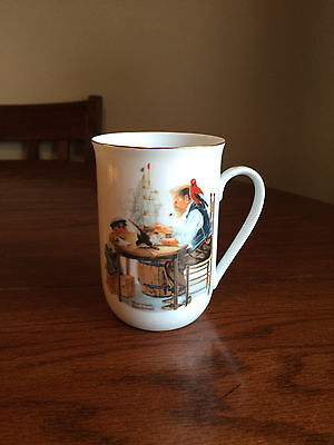 1982 Norman Rockwell Museum Collectible For A Good Boy Coffee Cup