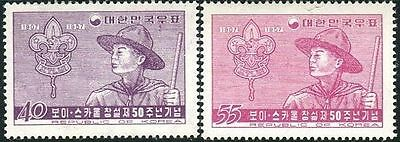 Korea South 1957 SG293 Scout and Badge set MNH