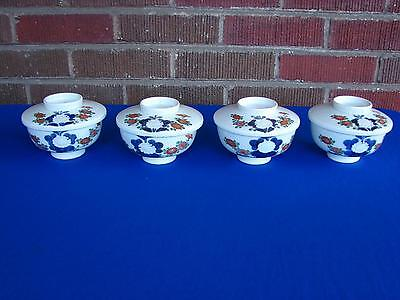 Four Antique Or Vintage Chinese Japanese Imari Arita Kakiemon Rice Bowls