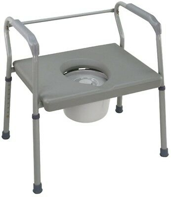 Portable Safety DMI Heavy-Duty Steel Commode Platform Medical Seat Toilet Chair