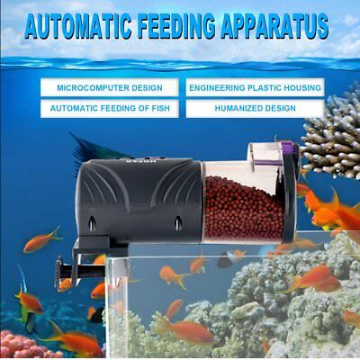 Automatic Fish Feeder Food Feeding Device With High Capacity Feeding Box BU