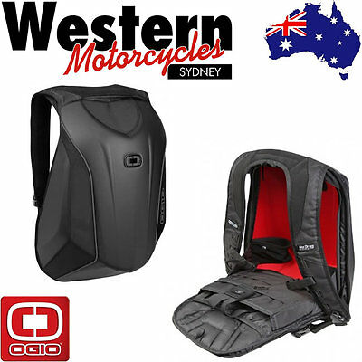 OGIO Mach 3 No Drag Stealth Motorcycle Backpack Black Luggage Carrier