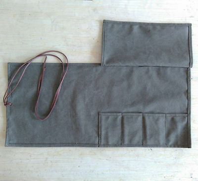 Japanese Chef's Knife Roll Bag Canvas Leather Knife Storage Case Chef Wallet Hot