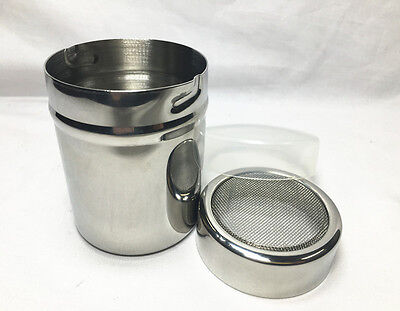 AZ Stainless Steel Chocolate Cocoa Flour Shaker Icing Sugar Powder Coffee Sifter