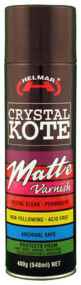Helmar Crystal Kote Matte Picture Varnish Clear Spray 400g