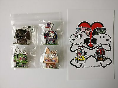 SDCC 2017 Exclusive Tokidoki X Peanuts Snoopy Enamel Pin Set of 4