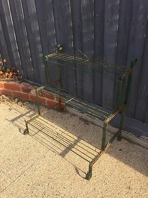 Vintage  Iron/steel Plant Stand.. 3 Tier..
