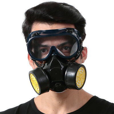 Dual Cartridge Anti-Dust Mask Painting Gas Filter Respirator Chemical Safety New