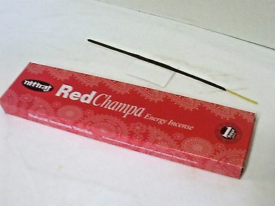 Nitiraj Red Champa Incense Sticks - Energy - 25 Grams