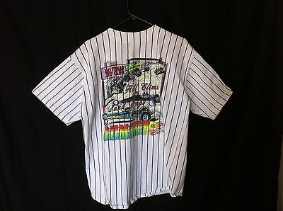 XL Mens Jersey striped short sleeve shirt Las Vegas Sand Drags Dumont SZ XL EUC