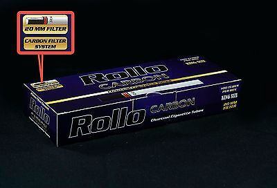 NEW!! 500 ROLLO Charcoal Tobacco Cigarette Filter Tube King Size Not Ventti FREE
